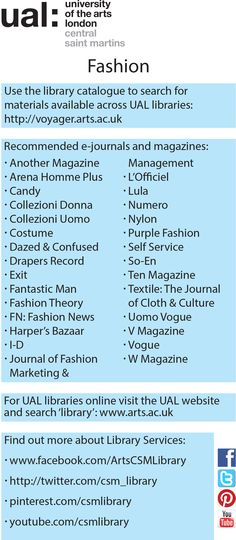 Fashion subject guide 2014