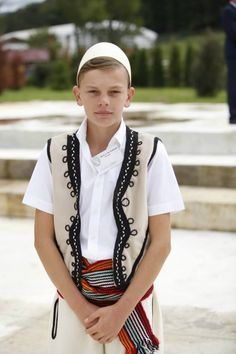Kosovo Republic, Albanian boy in traditional costume.