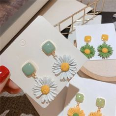 Charm Jewelry 2020 New Daisy Flower Earrings For Women Korean Styles Spring Summer Boho Jewelry Beach Holiday Pendientes Accessories | Touchy Style Silver Charm Bracelet, Charm Jewelry, Boho Jewelry, Simple Earrings, Flower Earrings, Women's Earrings, Pinterest Jewelry, Beach Holiday, Jewelry Stores