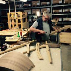 Carefully assembling the CH28 Lounge Chair  #behindthescenes #wegner #carlhansenandson