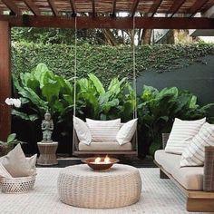 Outdoor Rooms, Outdoor Gardens, Outdoor Living, Rooftop Terrace Design, Terrace Garden, Backyard Patio Designs, Backyard Landscaping, Modern Pergola Designs, Patio Ideas