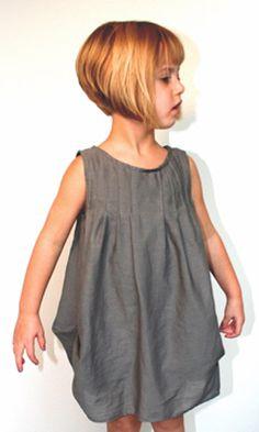 little girl short classic bob haircut
