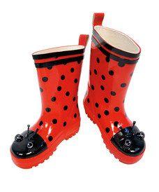 lady bug rain boots