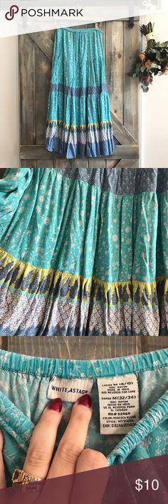 ✨NEW✨ Boho Festival Maxi Skirt Amazing festival skirt! So gorgeous and fun! Real, like, and cornflower blue! Elastic and drawstring waist! Skirts Maxi