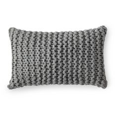 Alicia Adams Links Knit Pillow Cover - Heathered Grey | Serena & Lily