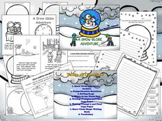 Snow globe story booklet and writing activities. Students can even make a cute snow globe shaped writing book.  https://www.teacherspayteachers.com/Product/Snow-Globe-Adventure-Booklet-and-Writing-Activities-1601951