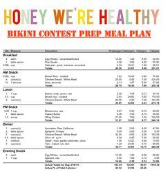 Sample Bikini Contest Prep Meal Plan