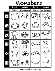 draw a monster this is one of the funnest things ive ever done - Drawing Games For Toddlers