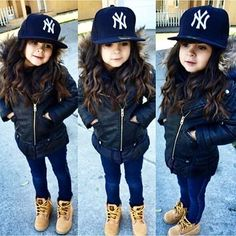 ideas for style girl swag fashion kids Cute Baby Girl Outfits, Toddler Girl Outfits, Toddler Fashion, Fashion Kids, Swag Fashion, Children Outfits, Girls Winter Fashion, Children Toys, Fashion Fall