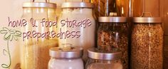 Food storage, emergency preparedness blog