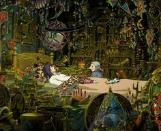 This sounds so odd..but I love Howl's room. It has everything from his childhood..who doesn't want that? // Howl's Moving Castle