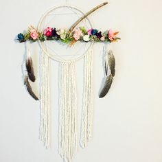 Unique Dreamcatcher Floral Dream catcher by BlairBaileyDesign