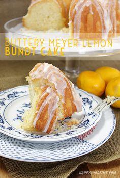 Buttery Meyer Lemon Bundt Cake | Happy Good Time Blog
