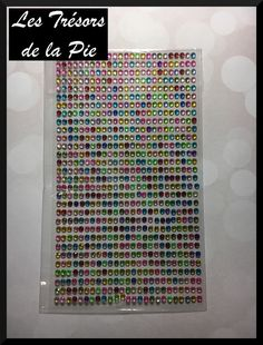 STRASS CRISTAL 3D ADHESIFS (x725) - Nail art - RONDS - 3mm - Multicolore