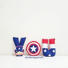 Captain america theme name banner Material : Felt