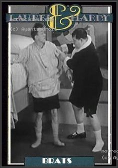 """Laurel and Hardy ~ """"Brats"""", 1930"""