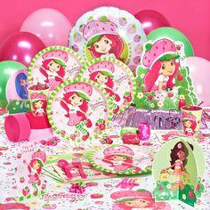Strawberry Shortcake Party Supplies For summer birthday ! Girl Birthday Themes, Bday Girl, 4th Birthday Parties, 3rd Birthday, Birthday Ideas, Summer Birthday, Strawberry Shortcake Party Supplies, Strawberry Shortcake Birthday, Party Packs