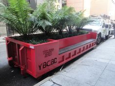 Parklet made from converted shipping container in San Francisco