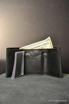 Bunker Gear Tri-Fold Wallet (Black)- Black Helmet Firefighter Apparel - Bryan's Christmas