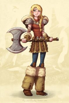Astrid and her AXE. *Sighs dreamily* My Valkyrie is just...puuurrrfect. *Grins goofily*