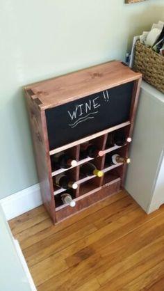 Homemade wine rack