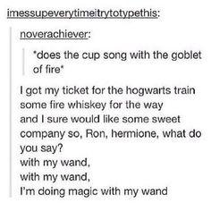 I'm doing magic here and there, I'm doing magic everywhere oh, I'm doing magic with my wand