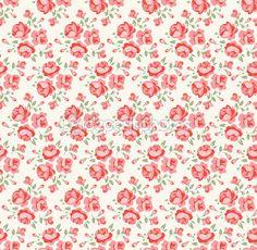 Shabby chic rosa patrón — Vector stock © nordfox #14499535