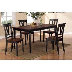 5pc Dining Set 2386 - Black on brown?
