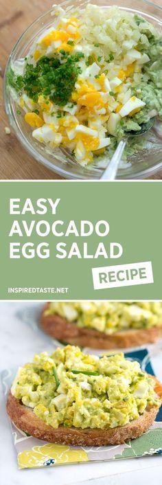 How to Make Avocado Egg Salad