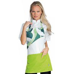 Delantal Lollipop Verde - Tejido antimanchas - www.chefaporter.com Dresses For Work, Fashion, White Colors, Aprons, Trousers, Over Knee Socks, Green, Tejido, Accessories