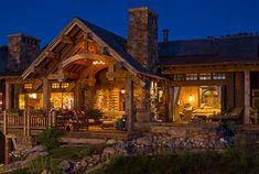 Porch living in your log home.....SBC Builders, Bozeman, Montana