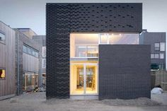 Facade Tetris: The Luminous And Textured Potential of Brick - Architizer Houses Architecture, Architecture Design, Contemporary Architecture, Residential Architecture, Brick In The Wall, Brick Facade, Facade House, Brick Building, Building Design