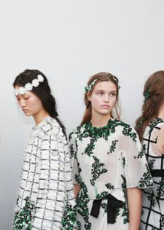 spring inspiration in black and white with floral detail from Moncler Gamme Rouge SPRING16 | via coco kelley