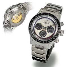 The dial gives the STEINHART Ocean One Vintage Chronograph white an incomparable appearance Stainless Steel Polish, Stainless Steel Case, Steinhart Ocean One, Steinhart Watch, Rolex Watches, Watches For Men, Rolex Daytona Watch, Tourbillon Watch, Affordable Watches