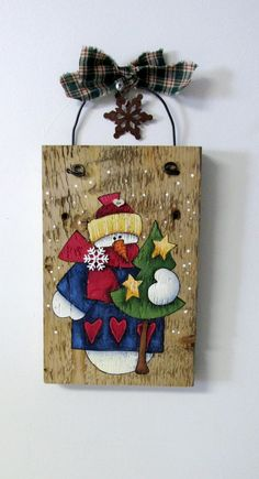 Colorful Dressed Snowman Hand Painted on Barn Wood, Winter Decoration, Rustic Barn Wood, Reclaimed Aged Barn Wood,Snowman holding Green Tree Christmas Signs, Christmas Art, Christmas Projects, Christmas Decorations, Christmas Ornaments, Holiday Decor, Xmas, Wood Snowman, Snowman Crafts