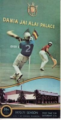 Up for bids is a Dania Jai Alai program from April 10, 1980, Vol. 27-No. 142. This program is in good used condition with all 21 pages intact. There is minimal wear with some light writing on some of