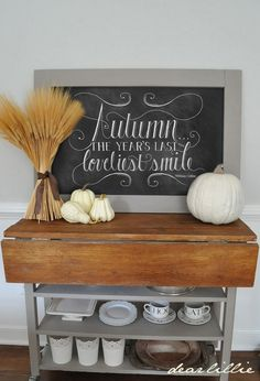 Chalkboard Art Archives - Page 4 of 6 - Dear Lillie Studio Thanksgiving Decorations, Seasonal Decor, Holiday Decor, Thanksgiving Ideas, Dear Lillie, Fall Is Coming, Chalk Art, Autumn Home, Entryway Tables