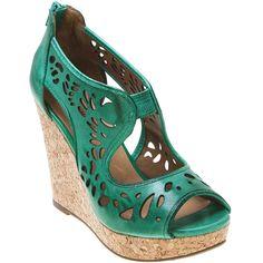 Buy Whisky Green Black Miz Mooz Women's Kayla Open-Toe Wedge Shoe shoes