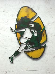 Green Bay Packers 1960's metal wall art by FunctionalSculpture