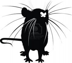 rat.... could possibly turn this into a stencil? or also would make a nice tattoo...