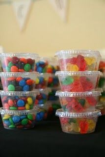 Great Idea! Already have candy separated so kids wont stick their [nasty] hands in the bowl! haha