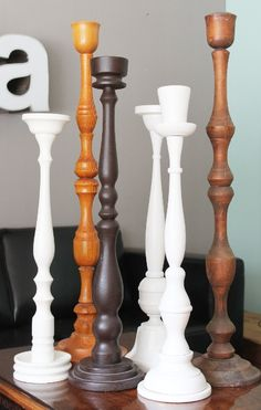 candlesticks.  would be a neat display beside a fireplace