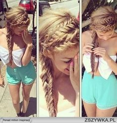 summer braids #crown and #fishtail mix