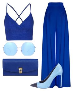 """""""Erudite"""" by caitlynrunager on Polyvore featuring Topshop, Hebe Studio, Quay, Yves Saint Laurent, Dolce&Gabbana, DateNight and Blue"""