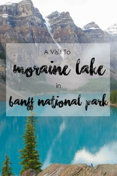 A Visit to the Beautiful Moraine Lake in Banff National Park Moraine Lake is… Canada National Parks, Banff National Park, Alberta Travel, Banff Alberta, Alberta Canada, Alaska, Visit Canada, Canada Eh, Moraine Lake