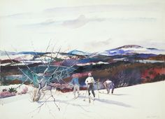 From Mount Kearsarge. Andrew Newell Wyeth. ca. 1939