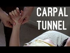 Massage Tutorial: Carpal tunnel syndrome (myofascial release) - YouTube