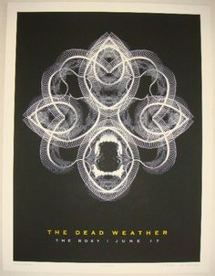 The Dead Weather - silkscreen concert poster (click image for more detail) Artist: Rob Jones Venue: The Roxy Location: Hollywood, CA Concert Date: 6/17/2009 Edition: 232; signed and numbered by the ar