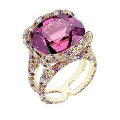 Faberge - Spinel, diamonds, amethysts, violet sapphire and yellow sapphire
