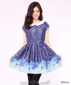 New Japan Secret Honey Disney Frozen Collectible Classic Dark Blue Dress #SecretHoney